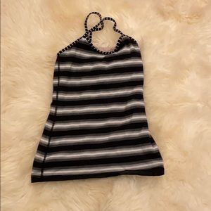 Black and white stripes tank